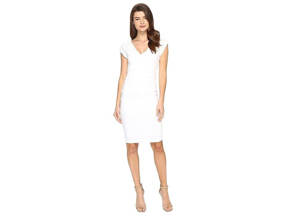 Nicole Miller Linen Beckett Dress (White) Women