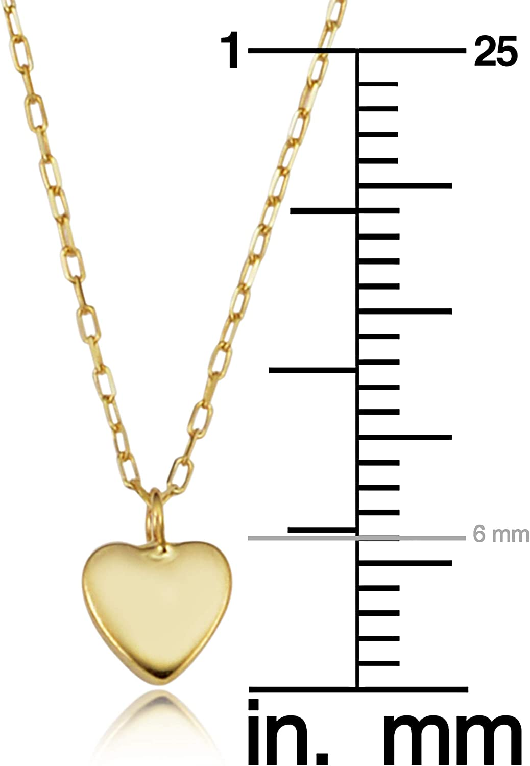 KoolJewelry 14k Yellow Gold Heart Layered Necklace for Women (adjusts to 17 or 18 inch)