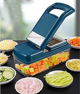Multifonction Coupe-légumes Dicer,Coupe-oignon Cuisine Food Cutter Patate Cutter avec Garde de Main/Récipient,Trancheur de...