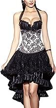 R-Dessous Corsgenkleid kurz Corsage + Rock Mini Top Bustier Kleid Abendkleid Cocktailkleid Party Ball Kleid