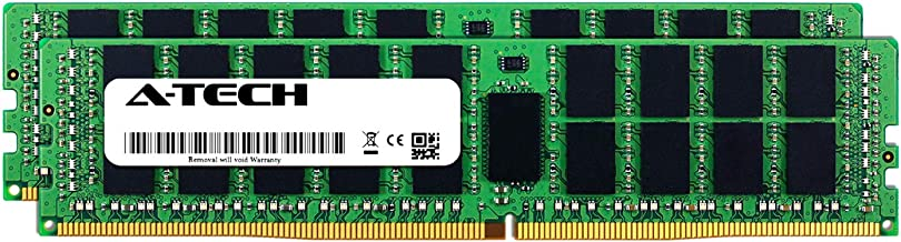 A-Tech 32GB Kit (2 x 16GB) for Dell PowerEdge R530 - DDR4 PC4-17000 2133Mhz ECC Registered RDIMM 2Rx4 - Server Memory Ram Equivalent to OEM A7945660 SNP1R8CRC/16G (AT316638SRV-X2R2)
