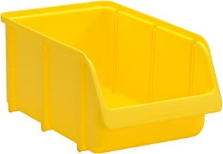 hünersdorff Zichtbox/stapelbox/opslagbox in maat 4, stapelbaar, kleur: geel