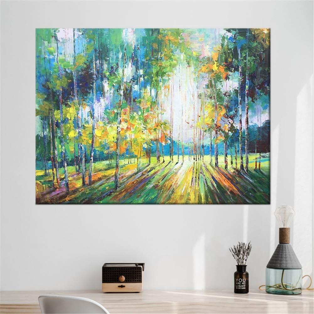 60 * 90cm HIMAmonkey DIY Handgemalte /Ölgem/älde Wald Bunt Wandbild,Mit Moderne Kunst,F/ür Wohnzimmer Schlafzimmer,24*36