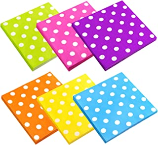 Cocktail Napkins, Spnavy 120 Pieces 6.5X6.5 Inch Beverage Luncheon Paper Napkins Colorful 2 Ply Dot Napkins for Dinner Anniversary Decoration Birthday Party Supplies, 6 Colors