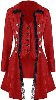 Women's Gothic Steampunk Corset Halloween Costume Coat Victorian Tailcoat Jacket