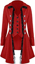 VNVNE Women's Gothic Steampunk Jacket Corset Coat Victorian Tailcoat Halloween Costume