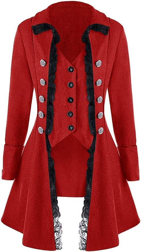 Steampunk Jacket   Steampunk Coat, Overcoat, Cape Womens Gothic Steampunk Corset Halloween Costume Coat Victorian Tailcoat Jacket  AT vintagedancer.com