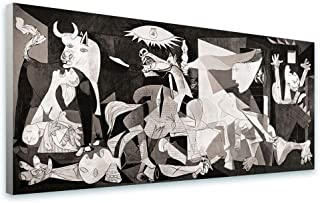 Alonline Art - Guernica by Pablo Picasso | framed stretched canvas on a ready to hang frame - 100% cotton - gallery wrapped | 50