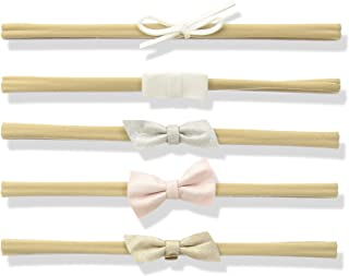 Mud Pie Baby Girls' Leather Bow 5 Piece Headband Set