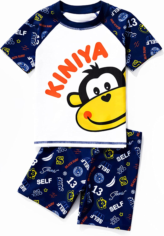Toddler Two Piece Swim Set Sunsuit Swimwear and Swimsuit Trunks Set UPF 50+ Beach Swim Trunk (3-16years)