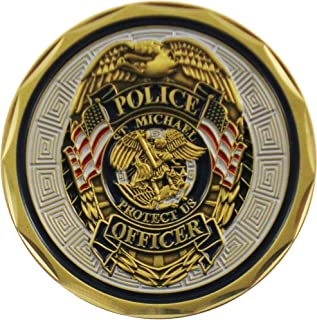 NEW Saint Michael Police Challenge Coin