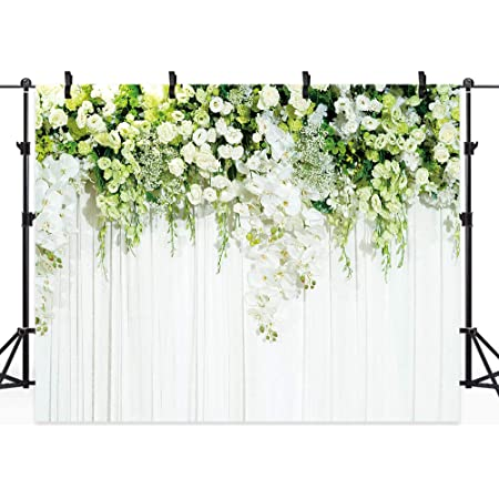 7x10 FT Garden Art Vinyl Photography Backdrop,Botanical Flourishing Ivy Pattern with Fresh Vibrant Spring Leaves and Flowers Background for Photo Backdrop Baby Newborn Photo Studio Props