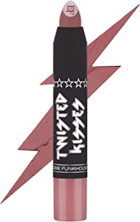 EDDIE FUNKHOUSER Twisted Kisses Matte Lip Crayon, Full Coverage Matte Lipstick (Kiss Me Twice)