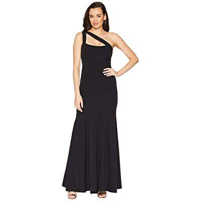 Laundry by Shelli Segal One Shoulder Crepe Gown (Black) Women