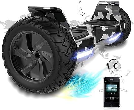 COLORWAY Hover Scooter Board SUV de 8,5 Pulgadas, Hoverboards Todo Terreno 700 W, Bluetooth y LED, Equilibrio Automático de Patinete Eléctrico para ...