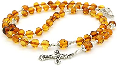 Natural Amber Rosary - Cut From Single Stone/مسباح كهرمان قص من حجر واحد