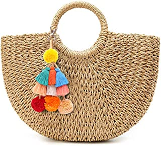 Women Large Straw Bags Beach Tote Bag Hobo Summer Handwoven Bags Purse