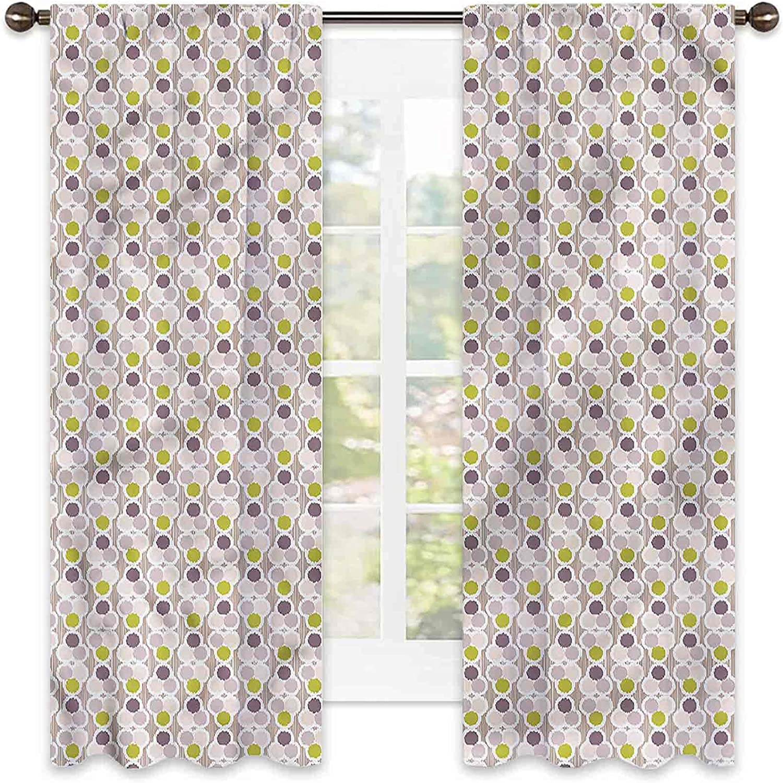 Ikat Translated Heat New product Insulation Curtain Colorful Soundp Circles Geometric