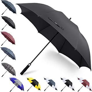 G4Free 62/68Inch Extra Large Golf Umbrella Heavy Duty Long Automatic Open Windproof Oversize Waterproof Stick Rain Umbrellas for Men Women