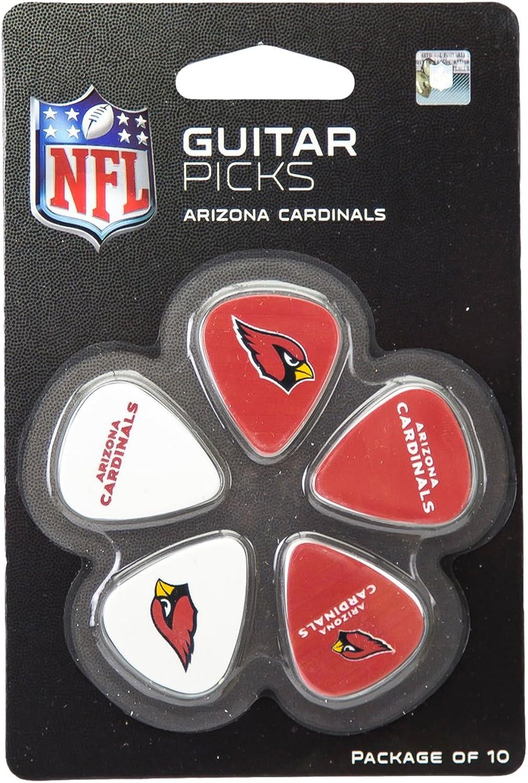 NFL Arizona Cardinals Guitar Pick (10-Pack) 1-inch x 1-3 16-Inch Red