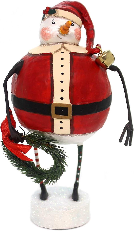 Lori Mitchell JOLLY Cheap SNOW SANTA Polyresin overseas Snowman Christmas Wreat