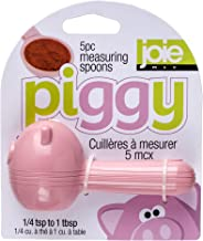 HIC Harold Import Co. Piggy Wiggy Little Egg Whisk Home Decor Products Oink Measuring Spoon Set #N/A Pink