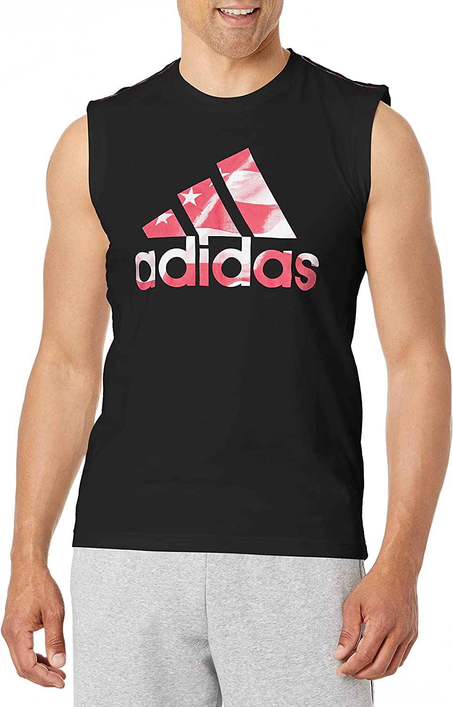 テレビで話題 adidas Men's Americana Cotton Graphic Tank 希少