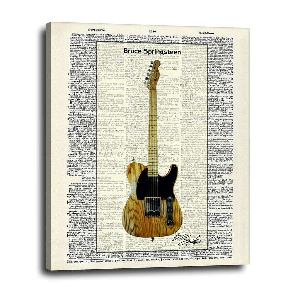 Bruce Springsteen Guitar Dictionary Canvas Wall Free Shipping New Gr shipfree Decor 16x20 -