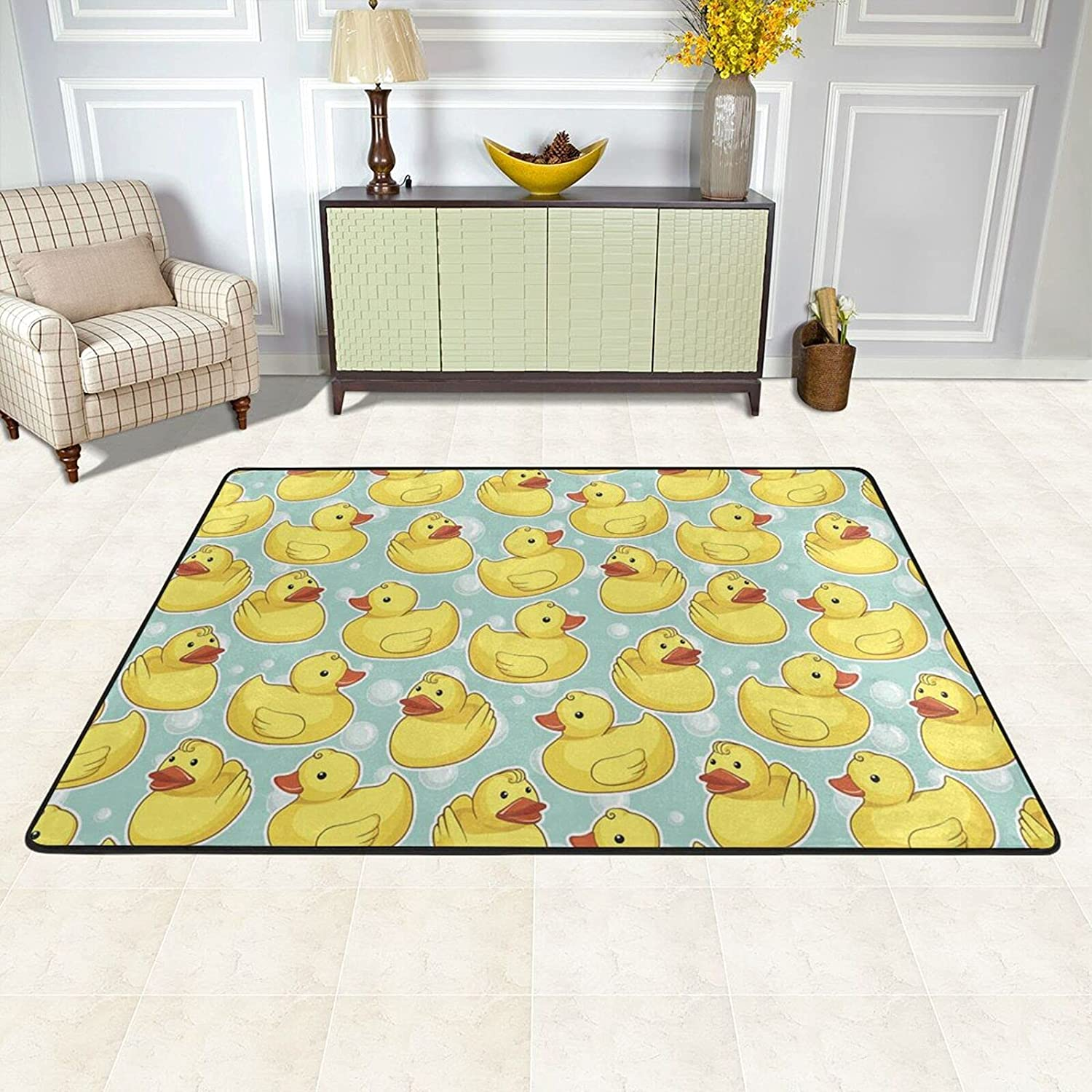 Area Rugs cheap Excellence Pad for Bedroom Living Duck Happy Rubber Room Bubbles
