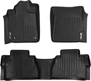 MAXLINER Floor Mats 2 Row Liner Set Black for 2014-2018 Toyota Tundra Double Cab or CrewMax Cab