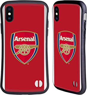 Official Arsenal FC Home 2017/18 Crest Kit Hybrid Case Compatible for iPhone X/iPhone Xs