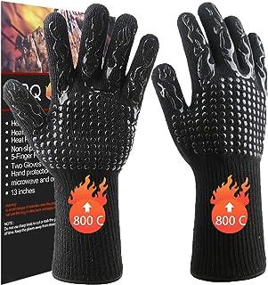 Songwin Grillhandskar grillhandskar, 800 °C extremt värmetåliga -ugnshandskar med EN407 certifierade för grillning/baknin...