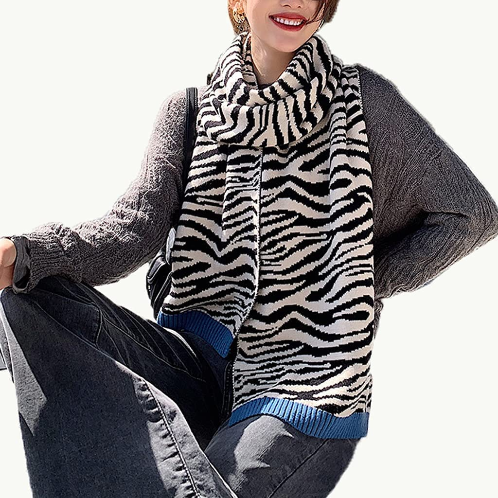 GYZCZX Lady Winter Thick Knitted Scarf Shawl Wr Cheap super special price Pashmina Pattern outlet