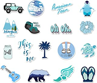 Blue VSCO Stickers for Water Bottle 50 Pcs Laptop Vinyl Sticker for Teens Girls Cute Waterproof Trendy Decals for Phone Luggage Car Bumper Skateboard (Series -3)