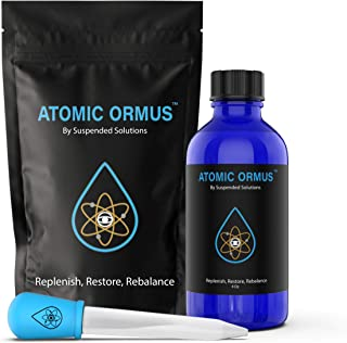 Atomic ORMUS - 4oz - Monoatomic Gold Ormus - Memory AID, ENERGETICALLY Enhanced, REJUVENATING, Increased Energy, Stamina, Vitality - Gold, Platinum, Iridium