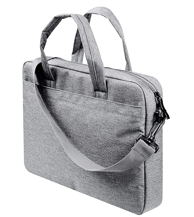 14-15.4 Inch Laptop Shoulder Bag Multi-functional Laptop Sleeve Bag Case with Carrying Strap Compatible 11.6-15.4 Inch MacBook Air Pro Ultrabook ThinkPad T-series|X1 Carbon Yoga Surface- Light Grey