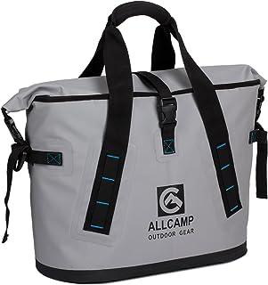 ALLCAMP Hopper Cooler Shoulder Bag 25L, 100% Leakproof, Ice-for-Days Design to Storage Big Food and Beverage Cargoes (Grey)