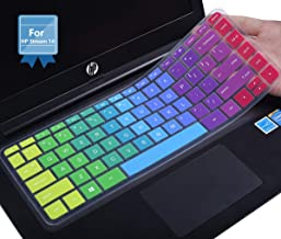 Colorful Keyboard Cover for HP Stream 14 inch Laptop/ 2018 2017 HP Stream 14 inch/HP Pavilion 14-ab 14-ac 14-ad 14-al 14-an 14-cb with Round Keys/HP Stream 14 inch Laptop Cover, Rainbow