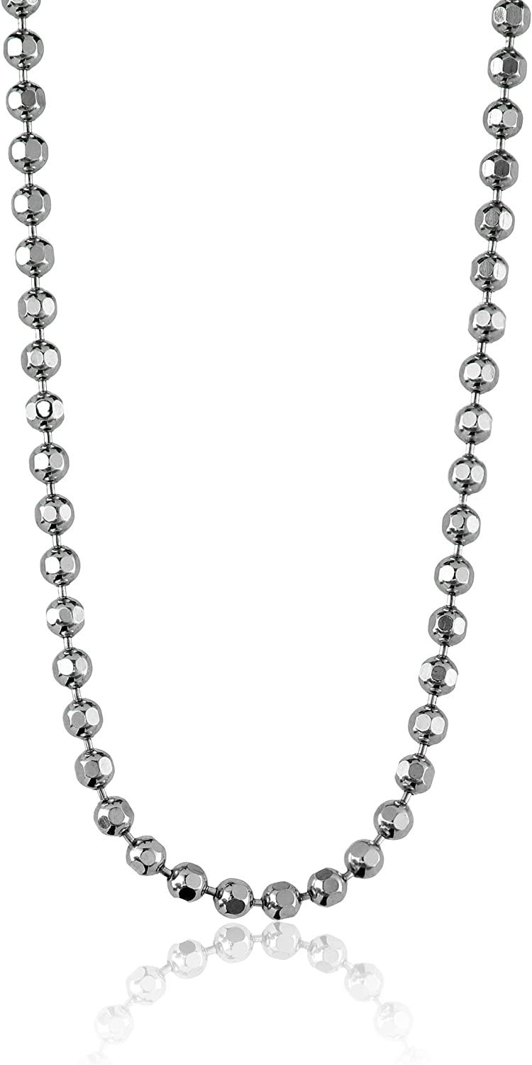 Alex Woo Chain Sterling Silver Diamond Cut Ball Chain 16 Chain Necklaces Jewelry