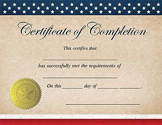 """爱国""""完成证书""""证书 - 25 个证书"""