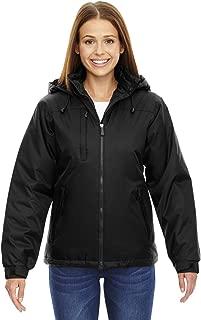 Ladies Hi-Loft Insulated Water Resistant Coat Jacket Black Large,Black,Large