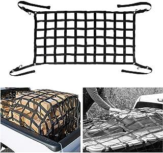 Mein LAY Cargo Net Short Truck Bed Cargo Net Heavy Duty Cargo Nets for Pickup Trucks with Cam Buckles & S-Hooks (42