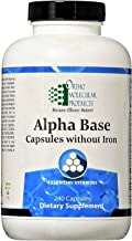 Alpha Base Capsules Without Iron 240 Count - Ortho Molecular Products