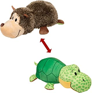 """Best FlipaZoo The 16"""" Pillow with 2 Sides of Fun for Everyone - Each Huggable Character is Two Wonderful Collectibles in One (Hedgehog / Turtle) Review"""