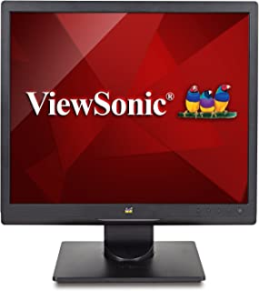 ViewSonic VA708A 17 Inch 1024p LED Monitor with 100% sRGB Color Correction and 5:4 Aspect Ratio, Black