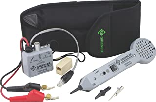 Tempo Communications 701K-G/6A Tone and Probe Kit With ABN Test Clips - Professional Tone Tracing Kit - Includes Tone Probe, Tone Generator and ABN Test Clips (Formerly Greenlee Communications)