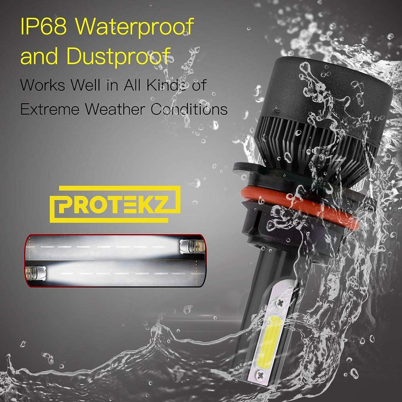 Protekz LED Headlight Kit High 9005 6000K 1200W for 2005-2012 Acura RL