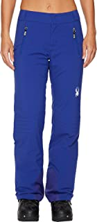 Spyder Women's Winner Athletic Fit Ski Pant, Blue My Mind, 16-Large
