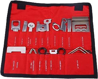 Cuque 38pcs Car Radio Sterieo Removal Install Tool Key Kit Car Audio Dash Removal Plastic Pry Tools Car Radio Audio Panel Door Removal Tool(Red Bag)