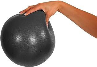 Mvs Bola 17-19 cm suave + 2 tapones + pajita, pilates gimnasia Yoga Gym Soft Over Ball - Negro